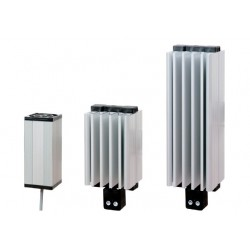 Fan heater 50W, 110-250 VAC DC, IP20, conformity: CE – UL, wire connection