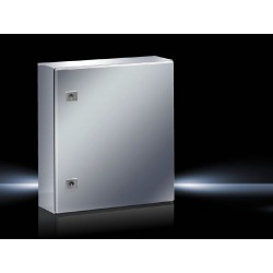 AE Compact enclosure, 400x500x210 mm, Stainless steel, with mounting plate, single-door, with two cam locks