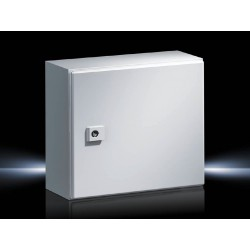 AE Compact enclosure, 300x300x210 mm, Sheet steel, with mounting plate, single-door, with one cam lock