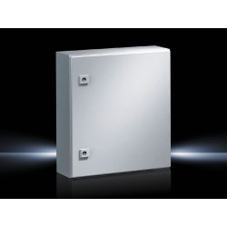 AE Compact enclosure, WHD: 400x500x210 mm, Sheet steel, with mounting plate, single-door, with two cam locks