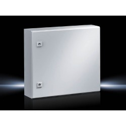 AE Compact enclosure, 500x500x210 mm, Sheet steel, with mounting plate, single-door, with two cam locks