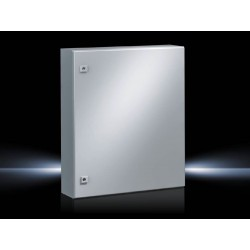 AE Compact enclosure, 600x800x250 mm, Sheet steel, with mounting plate, single-door, with two cam locks