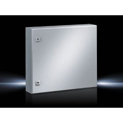 AE Compact enclosure,  600x600x210 mm, Sheet steel, with mounting plate, single-door, with two cam locks