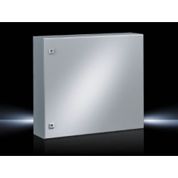 AE Compact enclosure, 760x760x300 mm, Sheet steel, with mounting plate, single-door, with two cam locks