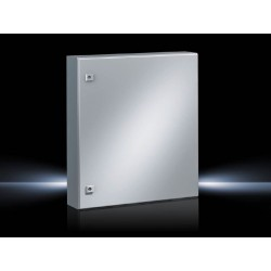 AE Compact enclosure, 600x760x210 mm, Sheet steel, with mounting plate, single-door, with two cam locks
