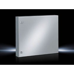 AE Compact enclosure, 760x760x210 mm, Sheet steel, with mounting plate, single-door, with two cam locks