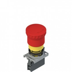 Complete unit with emergency pushbutton, fixing adapter and 1NC contact, head 40mm, d: 22mm