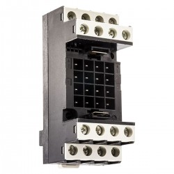 Socket for RH plug in relay, screw terminals