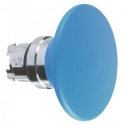 Mushroom pushbutton head, blue, diameter 60, for hole 22, spring return