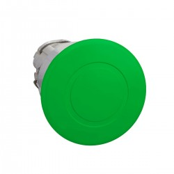 Mushroom pushbutton head, green, diameter 40, for hole 22, latching push-pull