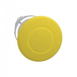 Mushroom pushbutton head, yellow, diameter 40, for hole 22, latching push-pull