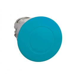 Mushroom pushbutton head, blue, diameter 40, for hole 22, latching push-pull