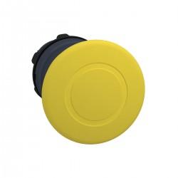 Mushroom pushbutton head, yellow, diameter 40 for hole diameter 22, latching push-pull