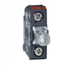 White light block for head diameter 22, integral LED 24 V, screw clamp terminals