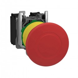 Emergency stop switching off, red, diameter 40 for 22 dimeter hole, trigger latching push-pull, 1NO and 1NC