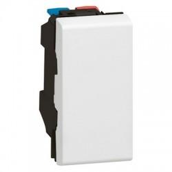 2way switch Mosaic, 10 AX 250 V, 1 modules,  white