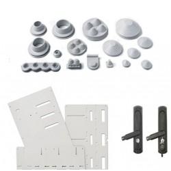 Mountig base, metal, for Maxipol enclosure 1000×1000 mm