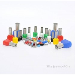 Insulated terminals, 2,5 mm2, grey, 500 pcs