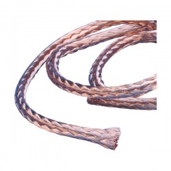 RRCB Round Braid in Coil, Plain Copper, 45 A Nominal Current, 6 mm2, 25 m