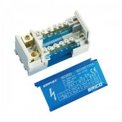 Blok distribucijski, 2P, 100/125A, dolaz: 1 x 10...35mm2, odlazi: 5 x 1,5...6mm2 i, 1 x 6...16mm2, tip BD100/125