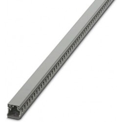 Cable duct for installation and mounting in control cabinets, gray, 25×25×2000 mm