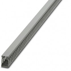 Cable duct for installation and mounting in control cabinets, gray, 25×40×2000 mm
