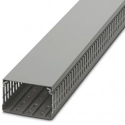 Cable duct for installation and mounting in control cabinets, gray, 100×60×2000 mm