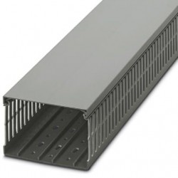 Cable duct for installation and mounting in control cabinets, gray, 120×80×2000 mm