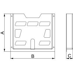 A4 plastic document pocket - 230x247x23 m