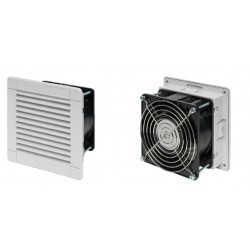 Filter fan 40 m3h, 24 W, 230V, 50Hz, RAL 7035, IP54, 150x150x71 mm