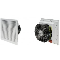 Filter fan 230 m3h, 40 W, 230V50Hz, RAL 7035, IP54, 250x250x119mm