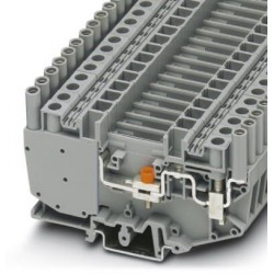 Test disconnect terminal block, with slide, screw connection, cross section: 0.5 mm2 - 10 mm2, gray
