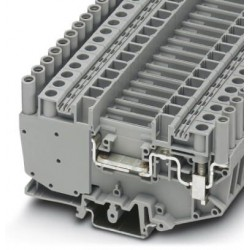 Disconnect terminal block, 500 V, 41 A, screw connection, No. of connections: 2, cross section: 0.5 mm2 - 10 mm2, gray