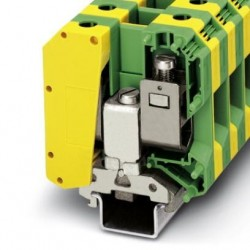 Ground modular terminal block, screw connection, No. of connections: 2, No. of positions: 1, cross section: 16 mm2 - 50 mm2,