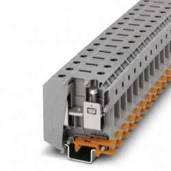 High-current terminal block, 1000 V, 150 A, screw connection, No. of connections: 2, cross section: 16 mm2 - 70 mm2, gray