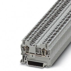 Feed-through terminal block, 800 V, 24 A, Spring-cage connection, No. of connections: 2, cross section: 0.08 mm2-4 mm2, gra