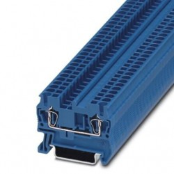 Feed-through terminal block, 800 V, 24 A, Spring-cage connection, No. of connections: 2, cross section: 0.08 mm2 - 4 mm2, blu