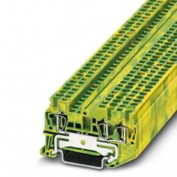 Ground modular terminal block, Spring-cage connection, No. of connections: 3, cross section: 0.08 mm2 - 4 mm2, green-yellow