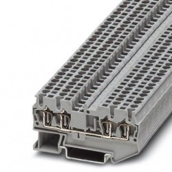 Feed-through terminal block, 800 V, 24 A, Spring-cage connection, No. of connections: 4, cross section: 0.08 mm2 - 4 mm2, gra