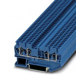 Feed-through terminal block, 800 V, 24 A, Spring-cage connection, No. of connections: 4, cross section: 0.08 mm2 - 4 mm2, blu