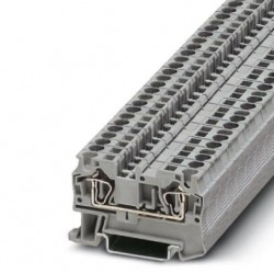 Feed-through terminal block, 800 V, 32 A, Spring-cage connection, No. of connections: 2, cross section: 0.08 mm2 - 6 mm2, gra