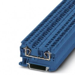Feed-through terminal block, 800 V, 32 A, Spring-cage connection, No. of connections: 2, cross section: 0.08 mm2-6 mm2, blu