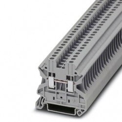 Feed-through terminal block, 1000 V, 24 A, screw connection, No. of connections: 2, cross section: 0.14 mm2 - 4 mm2, gray