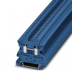 Feed-through terminal block, 1000 V, 24 A, screw connection, No. of connections: 2, cross section: 0.14 mm2-4 mm2, blue