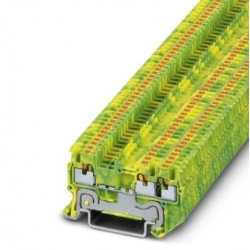 Ground modular terminal block, push-in connection, No. of connections: 3, cross section: 0.14 mm2 - 1.5 mm2, green-yellow