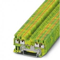 Ground modular terminal block, push-in connection, No. of connections: 4, cross section: 0.14 mm2 - 1.5 mm2, green-yellow