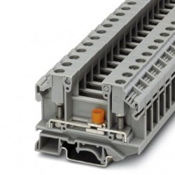 Terminal block with disconnect slide and test socket screws,  800 V, 36 A, Bolt connection, gray