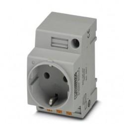 Socket EO-CF/PT, DIN standard, 2P+PE 10/16A, 250V AC
