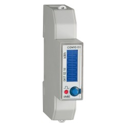 Active energy meter, multifunction, direct, 1 DIN module, 45A, RS 485 MODBUS RTU