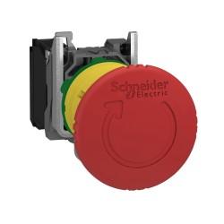 Stop tipkalo, crveno, za hitne situacije fi: 40, za utor fi 22, otpuštanje zakretom, 1M kontakt, metalni